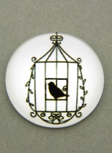 Bild: schwarz-weiß Cabochon Käfig H