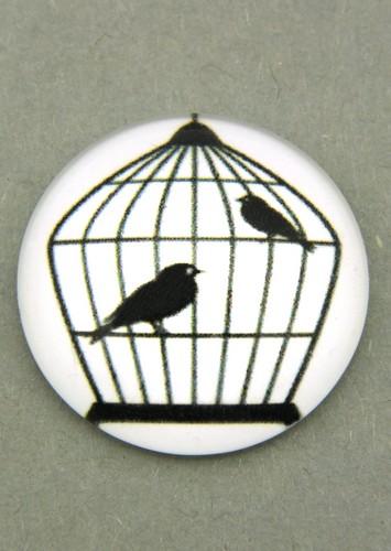Bild: schwarz-weiß Cabochon Käfig K